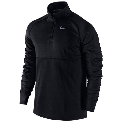 Nike Herren T-Shirt Racer 1/2Zip Top Schwarz (Black/Black/Reflective Silv)