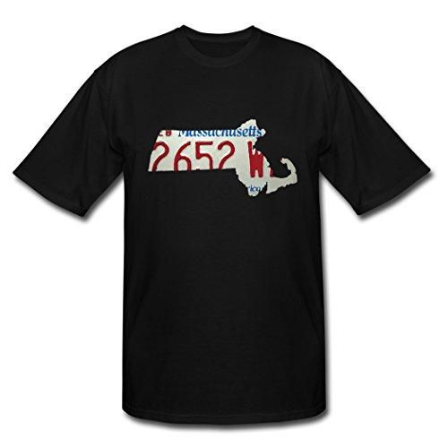 Original Massachusetts License Plate schwarz Herren's Shirt X-Large