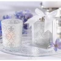 Fleur-de-lis Frosted-Glass Tea Light Holder (set of 24) by KA preisvergleich bei billige-tabletten.eu