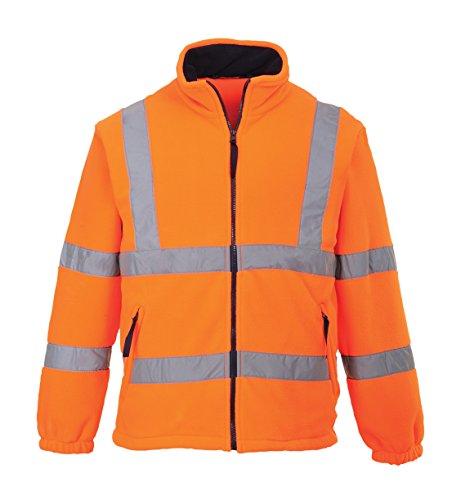 F300 - Warnschutz-Fleece-Jacke mitNetzfutter PORTWEST F300 - Warnschutz-Fleece-Jacke mitNetzfutter, 1 Stück, 4XL, orange, F300ORR4XL