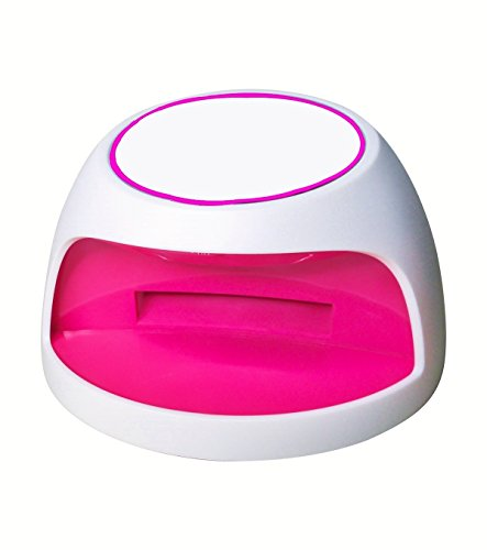 Foxnovo Mini Lampe LED Portable Sèche à Ongles Gel UV en Forme d'Arc Rose (blanc)