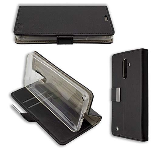 caseroxx Funda Tipo Libro para HomTom S99, Carcasa con Flip para el Smartphone (Flip Case en Negro)