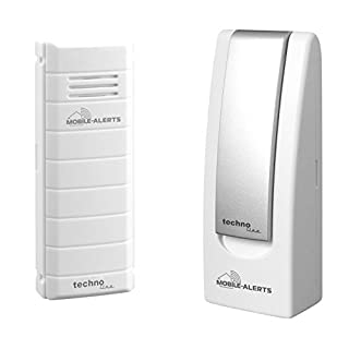 Mobile Alerts MA 10001 Starter Set Hausüberwachungssystem,2-teilig, inklusive Gateway und Temperatursender MA 10100 (mit Alexa kompatibel) zur Temperaturüberwachung mit Meldung auf das Smartphone weiß, 4 x 2,5 x 10,3 cm