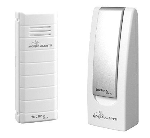 Mobile Alerts MA 10001 Starter Set Hausüberwachungssystem,2-teilig, inklusive Gateway und Temperatursender MA 10100 (mit Alexa kompatibel) zur Temperaturüberwachung, 4x2,5x10,3cm -