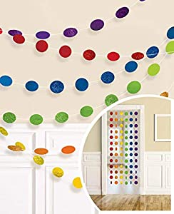 Amscan International - 672424 - 90 2,13 M de cuerda de arco iris purpurina Kit de decoración
