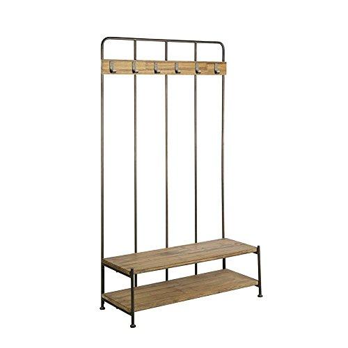 Pharao24 Garderobe aus Metall Holz massiv Loft Design