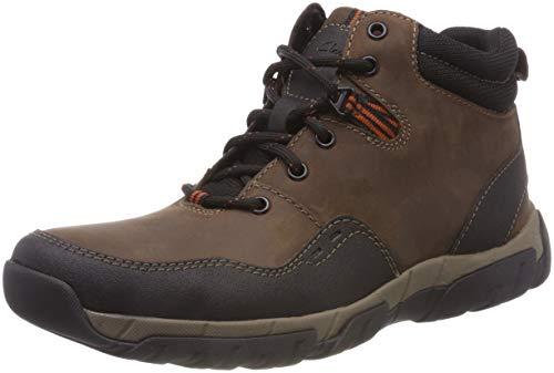 (Clarks Herren Walbeck Top II Schneestiefel, Braun (Brown Leather-), 42.5 EU)