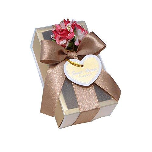 Black Temptation 20 PC-Partei-Hochzeits-Bevorzugungen Blumen-Geschenk-Kästen Süßigkeit-Kasten mit Deckel für Hochzeits-Versorgungsmateria