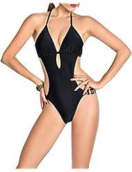 Bañador para Mujer Hálter Trajes de Una Pieza Bikinis