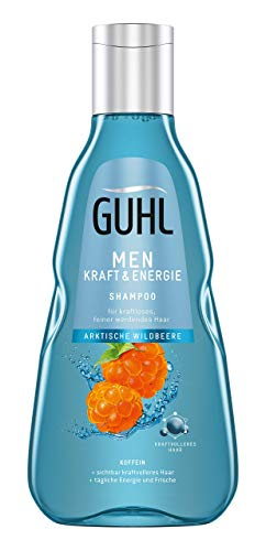 Guhl Men Kraft Und Energie Shampoo - Mit Koffein Und Arktischer Wildbeere - Für Feiner Werdendes Haar, 250 Ml