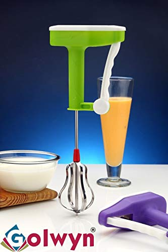 Golwyn Plastic Hand Mixer blenders for Kitchen, Milk, Coffee,lassi, Egg Beater blenders, Buttermilk Hand Mixers for Kitchen,1 PCS/Power Free
