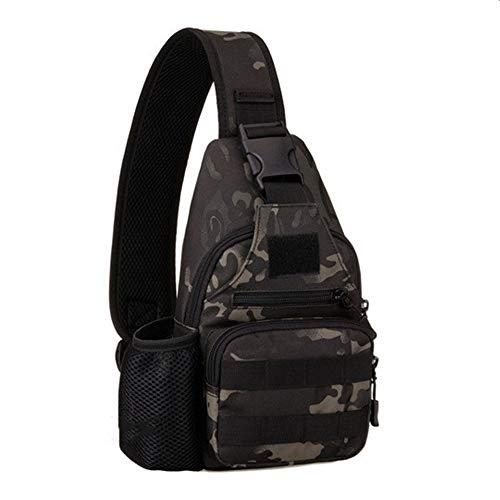 Kettle Set Brusttasche Reiten Sport Brusttasche Outdoor taktische Umhängetasche mit USB-Lade Brusttasche Casual Bag schwarz grau Slr Gadget Bag
