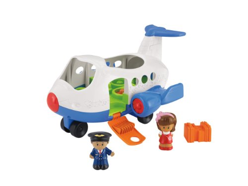 Mattel BJT56 – Fisher-Price Little People Flugzeug, inklusive 2 Figuren