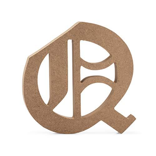 JoePaul's Crafts Holzbuchstaben, 15 cm, aus MDF-Holz 6 inch Q - Buchstaben 6-zoll-craft