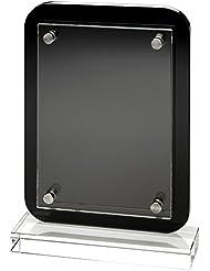 Madera de color negro placa trofeo–montaje en placa de madera con extraíble de cristal frontal, 19,7 cm