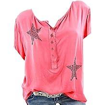 40f527ba74 Camisa de Manga Corta de Botón de Mujer