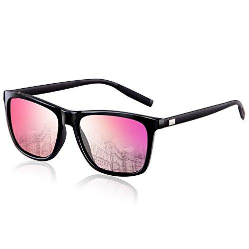 Wearpro uomo occhiali da sole polarizzati viandante unisex cornice super light(rosa)