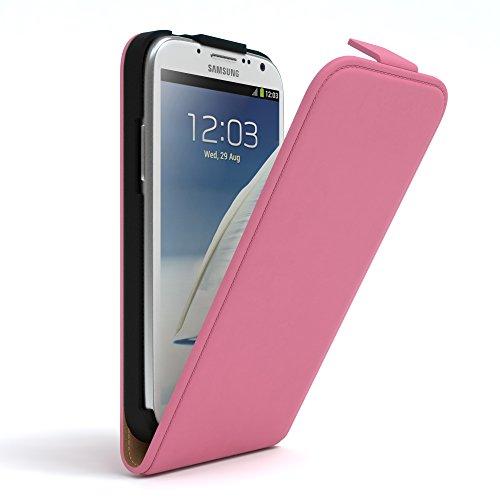 Samsung Galaxy Note 2 Hülle - EAZY CASE Premium Flip Case Handyhülle - Schutzhülle aus Leder zum Aufklappen in Schwarz Rosa
