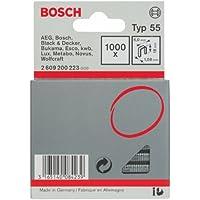 Bosch 2 609 200 223 - Grapa de lomo estrecho tipo 55-6 x 1,08 x 18 mm (pack de 1000)