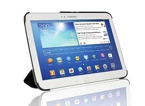 IVSO Smart Cover Leder Hülle Case Folio Tasche Cover mit Ständer & Auto Sleep und Wake UP Funktion für Samsung Galaxy Tab 3 10.1 GT-P5200/P5210 Tablet PC (Für Samsung Galaxy Tab 3 10.1, Schwarz)