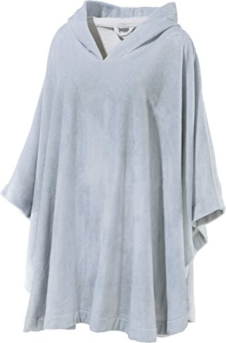 Erwin Müller Poncho lang mit Kapuze Velours-Frottier Silber Velours-poncho