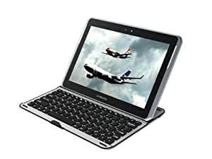 IVSO® Wireless Bluetooth Keyboard Aluminum Case For Samsung Galaxy Note 10.1 N8000 N8010 (BLACK Keys)