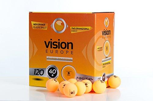 120 Pelotas De Ping Pong, 120 Pelotas de Tenis de Mesa, (Vision Super Training 40), Pelotas De Plástico, Nuevo Material Aprobado Por La Federación Internacional