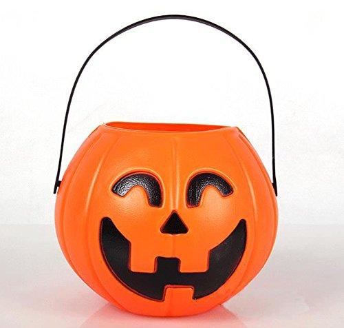 aloiness Halloween Kürbis Lichter Kürbisse Halloween Dekoration Candy Jar Laterne Party Requisiten für Kinder(Ohne Licht) (Jar Laternen Halloween)