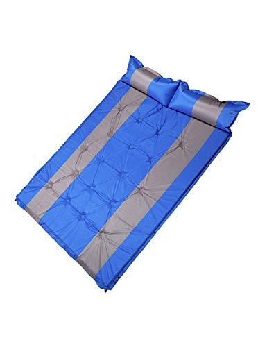 besbomig Doppelte Isomatte Matratze Selbstaufblasbare - Selbstaufblasende Luftmatratze mit Kopfkissefür 2 Personen Strand Backpacking Outdoor Camping