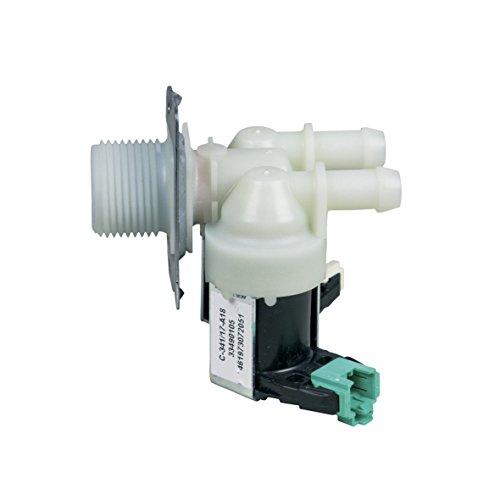 Europart 10032256 Magnetventil Einlauf Ventil 2-fach 180° 11mmØ Waschmaschine passend für Whirlpool Bauknecht 481228128468 Bosch Siemens 00627658 Indesit C00317274 Gorenje 483017