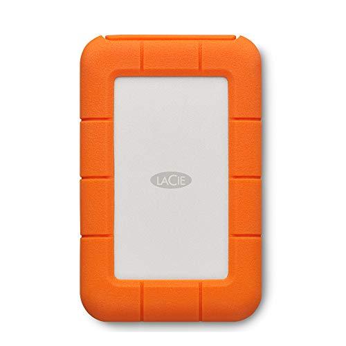 LaCie Rugged Thunderbolt USB-C, 2 TB, tragbare externe Festplatte für Mac, 2.5 Zoll, Thunderbolt, USB-C, Mac, PC