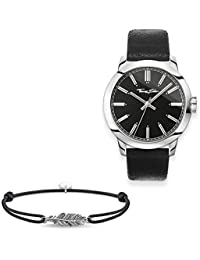 e45c13f05df THOMAS SABO Men Men s Watch Rebel at Heart with Little Secret Feather 925  Sterling Silver