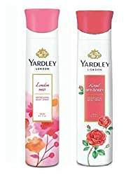 Yardley London Deodorant For Women Mist and Red Rose Combo Pack 2 (150 ml)