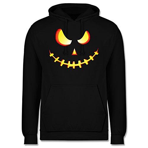 es Kürbis-Gesicht - L - Schwarz - JH001 - Herren Hoodie (Gesichter Für Halloween-kürbis)
