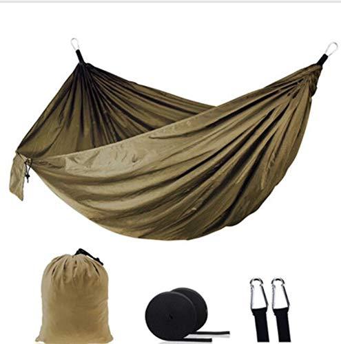 STRTT Ultraleicht Hängematte, Tragbaratmungsaktiv aus Fallschirm Nylon, bis 300 kg belastbar, für Reise Outdoor Camping Garten(270 * 140CM)
