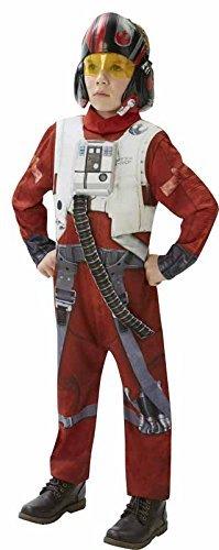 Generique - Poe X-Wing Fighter-Kostüm für Kinder Star Wars - hochwertig 116/128 (7-8 Jahre)