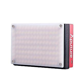 Aputure AL-MX Mini LED Videoleuchte 2800K-6500K Dimmbar CRI95 + 128pcs LED Perlen Eingebaute Lithiumbatterie mit Cold Shoe Mount Tragetasche