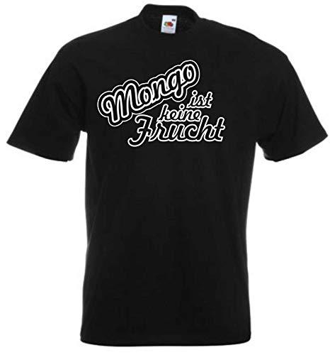 JINTORA T-Shirt - Shirt Mann schwarz - Größe XL - Mongo ist Keine Frucht - JDM/Die Cut - für Party Fasching Karneval Arbeit Sport