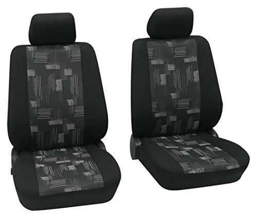 Preisvergleich Produktbild Sitzbezug Schonbezug Autositzbezug,  Vordersitzbezüge,  VW Volkswagen Golf 6 Plus,  Schwarz,  Grau