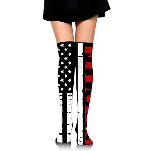 nchengcongzh Womens Mens Happy Penguin Tube Knee High Socks Funny Dress Cotton Socks for Running -