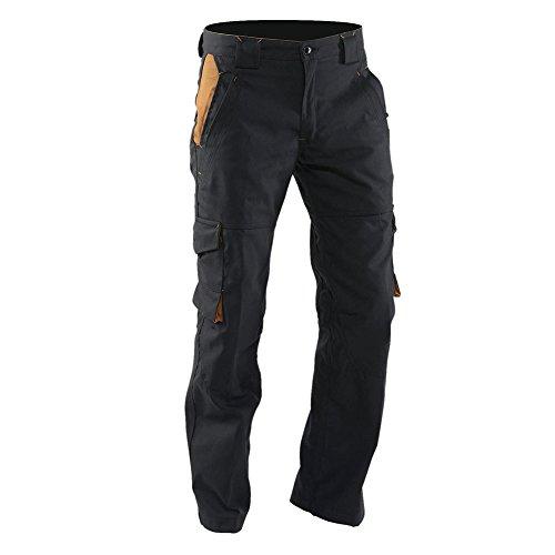 LMA 1247 NACELLE Pantalon Tissu Canvas, Noir/Camel, Taille 40