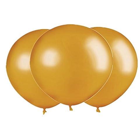 Sherry-K Lot de 3 Géant Ballons 90CM, Doré
