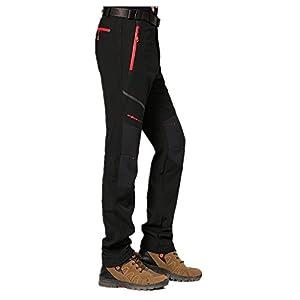 LehaiGo Pantaloni da uomo, Pantaloni sportivi impermeabile Pantaloni, Foderato softshellhose,Traspirante trekking Pantaloni. caldo per inverno Sci Pantaloni, Autunno Inverno Pantaloni