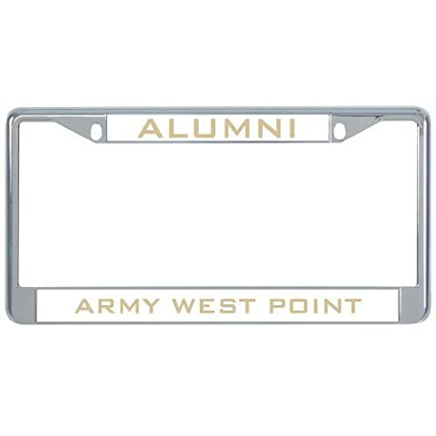 IMG Usma Alumni Metal License Plate Frame in Chrome Alumni