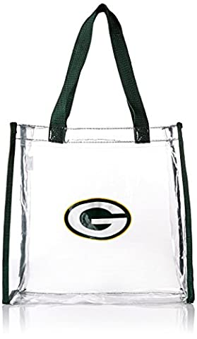 NFL Green Bay Packers Clear Reusable Bag, Green, One Size