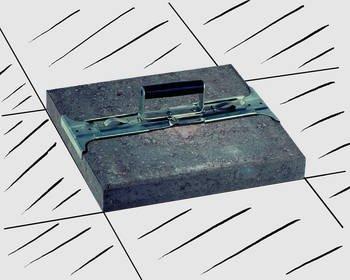 Idealspaten WEG1503378 Plattenheber mit PVC-Griff in Silber 1cm
