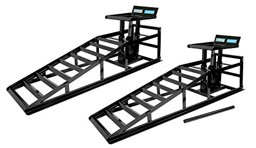 2x TrutzHolm® hydraulischer Auffahrbock Auffahrrampe Pkw KfZ Wagenheber höhenverstellbar