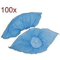 Topdo 100 Piezas de Cubierta de Zapato de plástico Azul Cubierta de Zapato Antideslizante Cubierta de