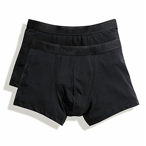 Fruit of the Loom Herren Boxershort 2 er Pack 170267 Black/Black/