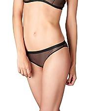 Maison Close 609940 Women's Liason Fatale Black Solid Colour Knickers Panty Full Brief